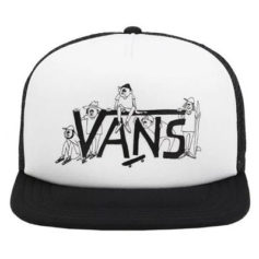 BONE VANS SHAPER GANG TRUCKER WHITE BLACK