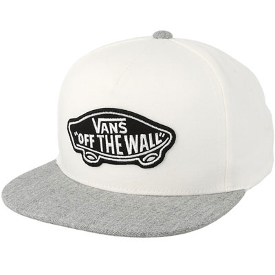 BONE VANS CLASSIC PATCH SNAPBACK WHITE HEATHER