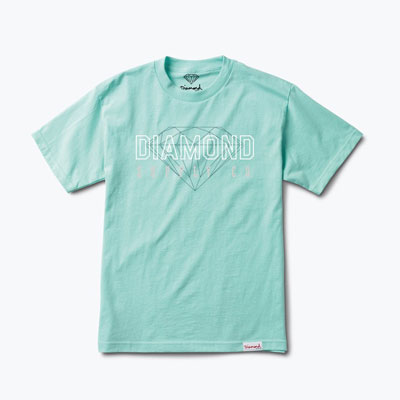 CAMISETA DIAMOND SUPPLY CO. COLLEGE BLUE
