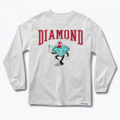CAMISETA DIAMOND SUPPLY TEAM MASCOT LONG SLEEVE