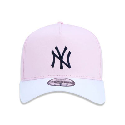 BONE NEW ERA 940 NEW YORK YANKEES MLB BLOCKED PASTELS ROUNDED