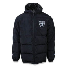 JAQUETA NEW ERA BOMBER OAKLAND RAIDERS NFL