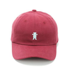 BONE GRIZZLY OG BEAR DAD HAT BURGUNDY