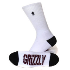 MEIAS GRIZZLY BEAR CREW WHITE
