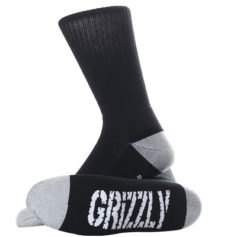 MEIAS GRIZZLY BEAR CREW BLACK