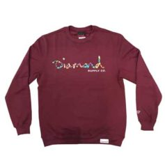 MOLETOM DIAMOND FASTEN CREWNECK BURGUNDY
