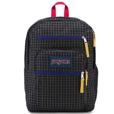 MOCHILA JANSPORT BIG STUDENT - BLACK GRID