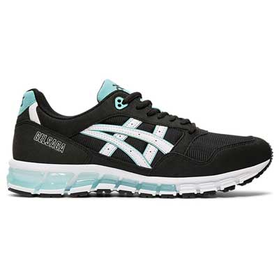 TENIS ASICS GEL SAGA 180 BLACK WHITE