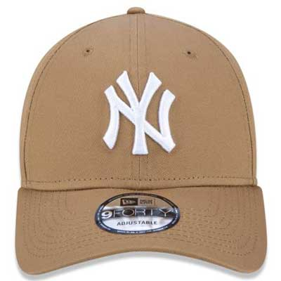 BONÉ NEW ERA 9FORTY ABA CURVA MLB NY YANKEES KAKI