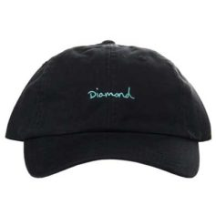 BONE DIAMOND OG SCRIPT DAD HAT BLACK