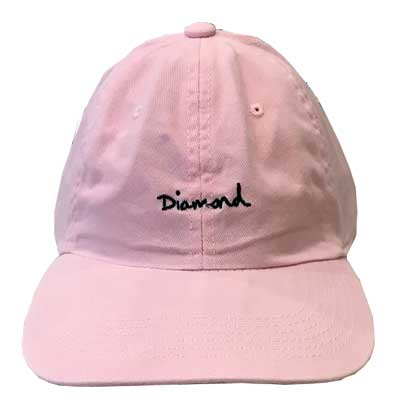 BONE DIAMOND OG SCRIPT DAD HAT PINK