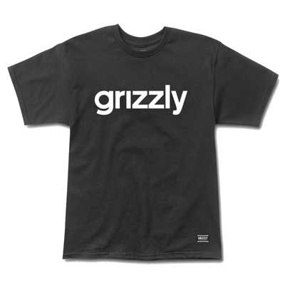 CAMISETA GRIZZLY LOWERCASE LOGO BLACK