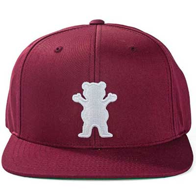 BONE GRIZZLY OG BEAR SNAPBACK BURGUNDY